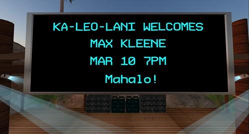 maximillion kleene concert at ka leo lani