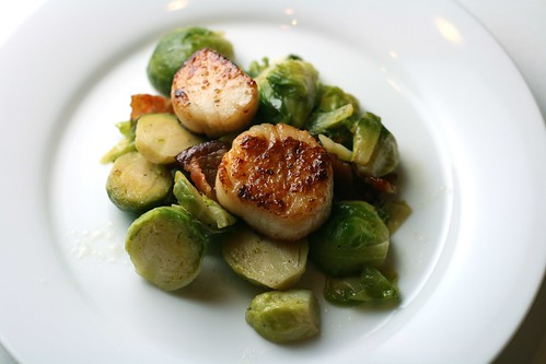scallops & brussels sprouts