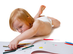 baby with album and soft-tip pen (Kruchancova's life) Tags: portrait baby white cute art home girl beautiful beauty childhood angel pen pencil notebook one nice education toddler artist child play serious designer drawing album small daughter working young games painter innocence learning casual leisure belarus isolated caucasian occupation softtip