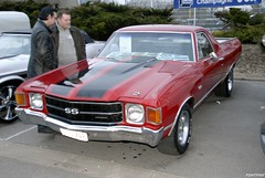 1970 chevrolet el camino (pontfire) Tags: reims marne champagne car cars auto gm us usa chevrolet elcamino pickup chevelle red salonchampenoisduvéhiculedecollection lesbelleschampenoisesdépoque worldcars la ardenne division general motors corporation 自動車 سيارة מכונית