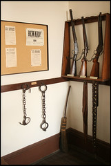 lawman's toolkit (purple_angelic) Tags: history tombstone 1800s shackles guns law wanted sheriff reward outlaws arrest oldwest tombstonearizona tombstonecourthousemuseum