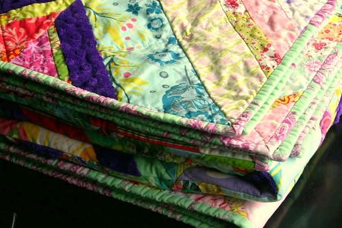 Carnival String Quilt - binding