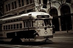 F Market 1056 (Jeremy Brooks) Tags: sanfrancisco california usa muni transit marketstreet streetcar fline sanfranciscocounty 1056 2014msrcalendar