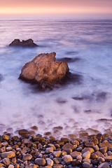 The Rock (enfi) Tags: ocean chile travel sunset sea costa sol geotagged valparaiso mar twilight long exposure via pacific playa arena v verano quinta region pacifico dunas oceano reaca concn vregion borde