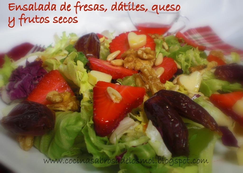 ENSALADA CON FRESAS,QUESO Y FRUTOS SECOS 1
