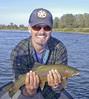 Dustin with trophy Lower Sacramento River Rainbow