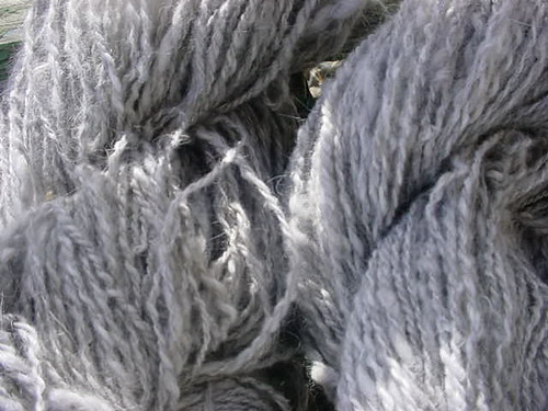 Handspun yarn from Cricket's fleece
