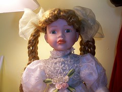 oops almost forgot her! haunted witch doll (moonandstarlite) Tags: blue ireland red irish baby green silver real gold scotland doll dragon witch vampire ghost scottish spell haunted collection fairy faery haunting enchanted possessed fae djinn entity