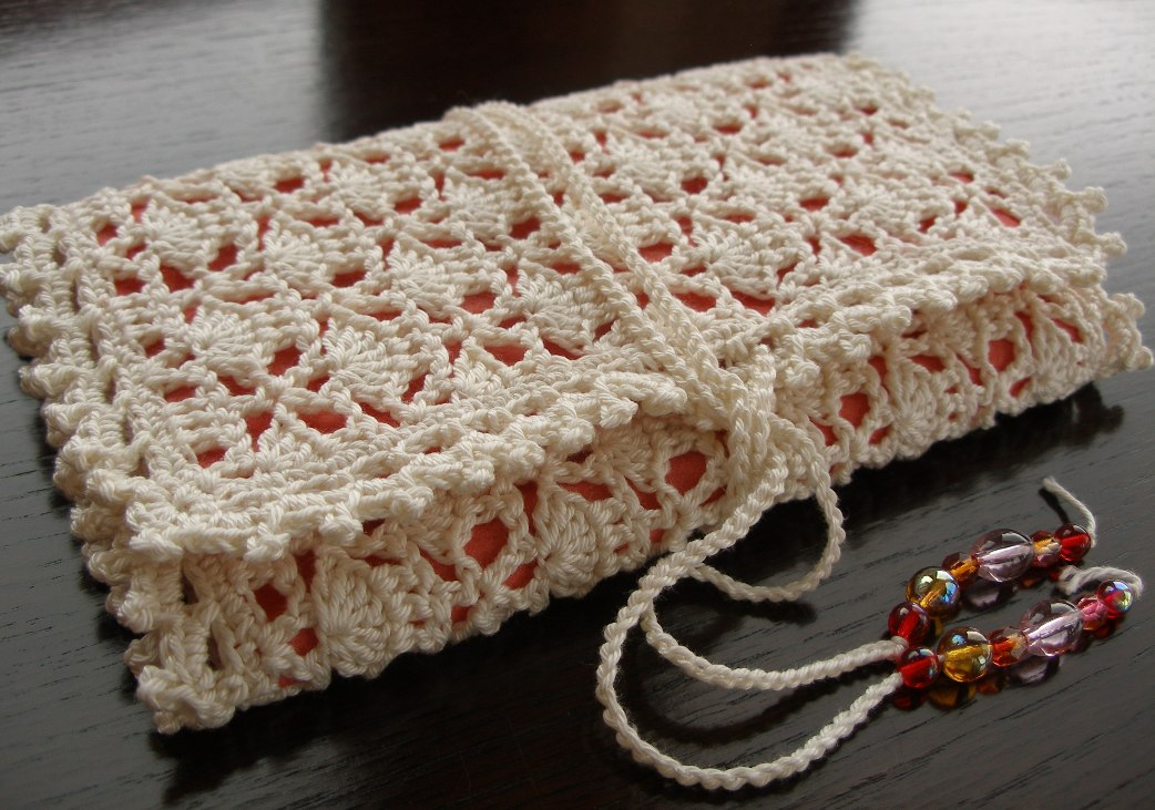 Crocheted crochet hook case