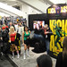 fans showing off their moves at the Kick-Ass booth