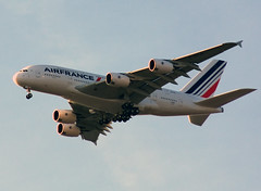 Air France Airbus A380-861 (MSN 0043) F-WWAB (jens.lilienthal) Tags: france plane inflight aircraft air hamburg airbus a380 msn approach eimsbttel approaching planespotting eads finkenwerder landeanflug 0043 xfw a380861 fwwab msn043