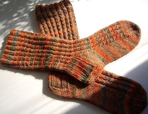 finished Chimera handspun socks