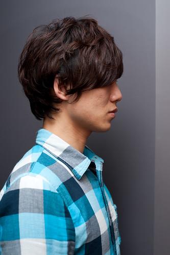【男生髮型】也可以在厚重一點所以一樣燙頭髮起來