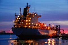 MAERSK HUMBER (LeHavreShips) Tags: sea france night port boat view ships vessel oil normandie normandy tanker crude tankers lehavre