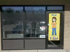 T-Girl's poster is hanging on therap office door