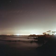 (m. wriston) Tags: california longexposure color 6x6 tlr film night analog mediumformat suburbia negative pacificgrove kodakportra160vc yashicamat124g c41 autaut