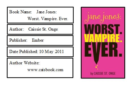 Jane Jones: Worst. Vampire. Ever. Bookplate