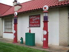 OH Canfield - Texaco Pumps (scottamus) Tags: old ohio station vintage gas pump oil service texaco canfield mahoningcounty