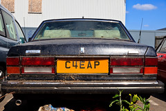 cheap! (Els Pics) Tags: england london trash europe mud decay dump dirty dirt expensive scrap distressed cheap bentley registrationplate scrapped lpmg elspics ericwaring