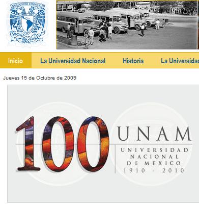 Portal 100 años UNAM