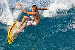 Rivies (konaboy) Tags: ocean hawaii surf close action surfer wave surfing bigisland kona kailuakona 1005 rivies