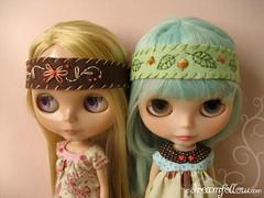 2 Blythe headbands