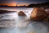 Sydney, Australia :: Whale Beach (-yury-) Tags: longexposure sea sky sun seascape beach water clouds sunrise canon landscape rocks sydney australia filter lee 5d northernbeaches whalebeach beachsunrise supershot abigfave