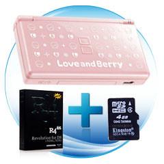 Used Nintendo DS Lite + R4 SDHC + 4GB Kingston Micro SDHC