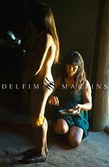 Yamurikumã na Adeia Aiha - Etnia  Kalapalo (Delfim Martins) Tags: indígenas cerrado mulheres dança aldeia índios mãeefilha pinturacorporal kalapalo regiãocentrooeste parqueindígenadoxingu yamurikumã
