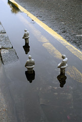 Climate change expedition 1 (Isaac Cordal) Tags: urban sculpture streetart london cement hackney instalation eclipses isaaccordal