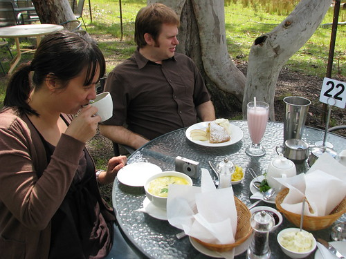 Afternoon tea in the Megalong Valley