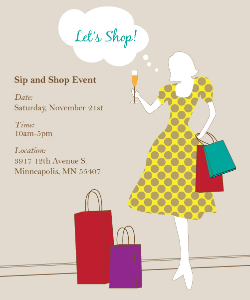 Sip & Shop Event!