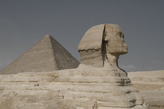 Sphinx and Khufu (Even The Stars Die) Tags: sphinx nikon pyramid egypt cairo giza مصر d3000 أبوالهول أهرامات
