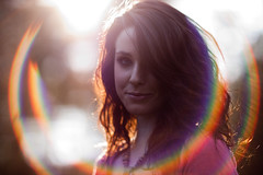 (The Vision Beautiful) Tags: light portrait sun girl lens redhead flare smirk katyeskillman