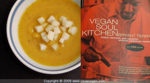 Butternut Squash-Bartlett Pear Soup from Vegan Soul Kitchen