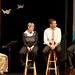 A faculty panel of Jo Wallis, Owen Byer and Sandy Brownscombe shares as part of the Following Jesus with Our Lives chapel series.