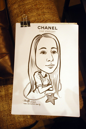 Caricature live sketching for Chanel Day 1 - 9