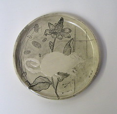 white rat (diana fayt) Tags: blackandwhite etched collage self ceramics handmade drawing oneofakind ships polarbear rats pottery rooster plates whales wren rabbits swallow seahorses quail scrimshaw dianafayt originaldrawings