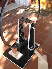 wheel truing stand (questionmarke) Tags: bike bicycle wheel diy stand wheelbuilding truingstand rogermusson
