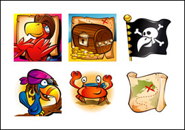 free Shiver Me Feathers slot game symbols