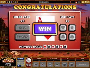 free Sunset Showdown gamble feature