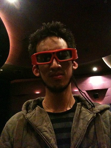 I was there wearing 3D glasses