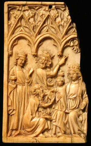 Panel from a Diptych Showing the Adoration of the Magi