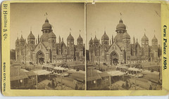 Corn Palace of 1890 (depthandtime) Tags: old tourism vintage found stereoscopic stereophotography 3d corn view antique trolley hamilton victorian iowa stereo card views stereoview stereograph foundphoto 1890 cornpalace nineteenthcentury siouxcity stereographic stereocard parallelview hamiltonco stereoscopeview