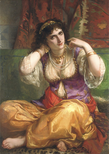 """Charles Louis Lucien Müller (French, 1815-1892), """"The odalisque"""""""