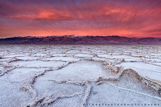 Badwater on Fire - Death Valley National Park, California