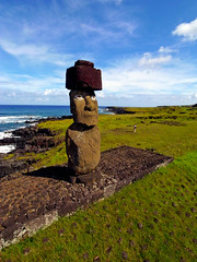 Tahai, Easter Island seen from a Pole (Pierre Lesage) Tags: fromabove southpacific pap heidy rapanui isladepascua moais iledepaques poleaerialphotography pierrelesage autopap easterisand ricohgx200 kapstock ronthompsongangstercarppole