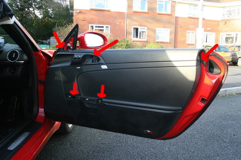 Guide for removal of 987 Boxster door interior door panel complete ...