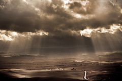 The light (*Berto*) Tags: light sky landscape cielo tuscany sole sunrays luce paesaggio frompienza