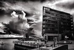 urban storm (marcomagrini) Tags: urban storm oslo norway architecture photoshop canon bn architettura bianconero hdr norvegia hdri photomatrix 400d flickraward